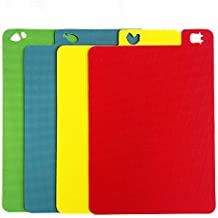 Jean-Patrique Flexible Index Slimline Chopping Boards Multi Colour Set   Chef Kitchen Cutting Food Prep Meat Vegetables Bread Crackers Cheese Chop Board
