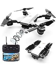 le-idea Droni GPS con Fotocamera Professionale 2K, Quadricottero FPV WiFi a 5GHz con Videocamera HD con Modalità Seguimi, Modalità Senza Testa e Ritorno a Casa, Drone Telecomandato per Adulti Bambini