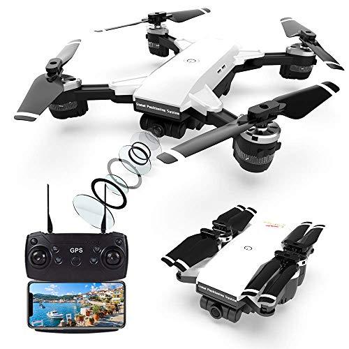 Droni GPS con fotocamera professionale 2K, quadricottero FPV WiFi a 5 GHz con videocamera HD con modalità Seguimi, modalità senza testa e ritorno a casa, drone telecomandato per adulti e bambini