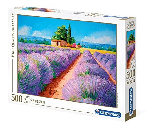 Clementoni - 35073 - High Quality Collection Puzzle - Lavender Scent - 500 Pezzi - Made In Italy - Puzzle Adulto