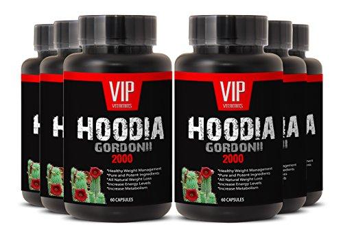 Supreme Hoodia Gordonii Extract - Pure Hoodia Gordonii Extract 2000mg - Hoodia Gordonii Highly Effective Appetite Suppressing (6 Bottles 360 Capsules)
