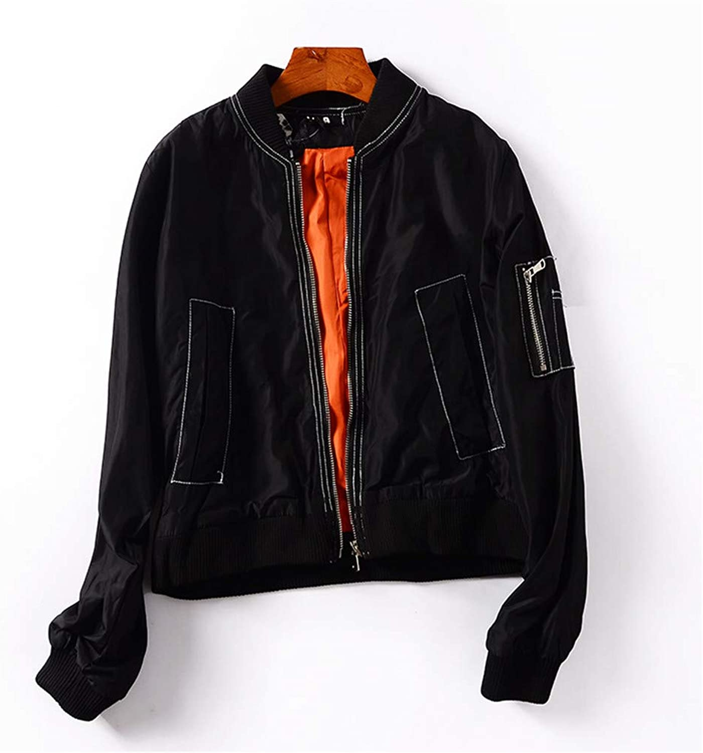 GUOKE Simple Leisure Fall Into A Uniform Autumn Couples with LongSleeved Jacket