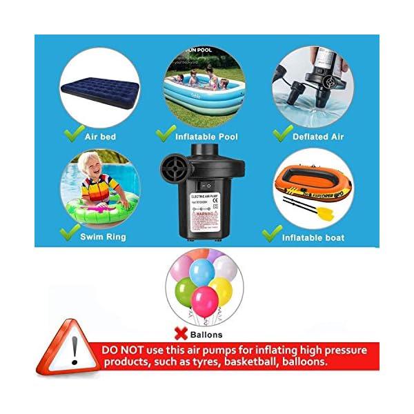 ZCZUOX Bomba de Aire Eléctrico, Bomba Eléctrica Incluyendo 3 en 1 infla y desinflama adaptadores de Boquilla , para… 1