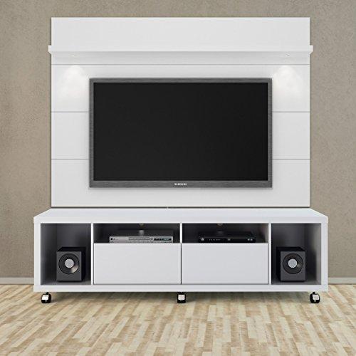 Manhattan Comfort Cabrini Floating Wall TV Panel 1.8 in White Gloss