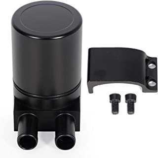 ECCPP Brand New 250ML Universal Aluminum Engine Oil Catch Tank Can Polish Baffled Reservoir Air-Oil Separator Black OE fit for BMW