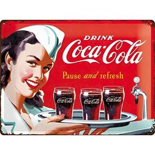 Nostalgic-Art 23192 Coca-Cola – Waitress – Idée de Cadeau pour Les Fans de Coke, en métal, Design Retro pour la décoration, 30 x 40 cm