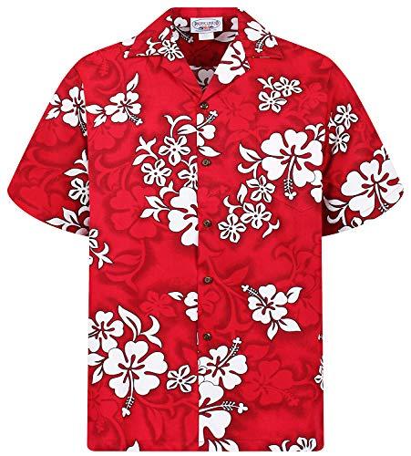 PLA Original Chemise Hawaienne, 64, Rouge, S