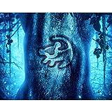 Kits de pintura de diamante 5D para adultos Kits de arte de diamante de taladro completo, El Rey León Simba: cartel de escena animada, manualidades de bricolaje para decoración del hogar