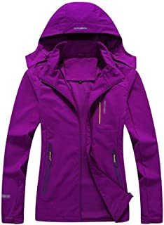 FYXKGLa Women's Outdoor Loose Four-Sided Bomber Single-Layer Hiking Jacket (Color : Purple, Size : XXXXL)