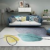 alfombras de salon modernas alfombra silla oficina El rectángulo de la decoración moderna del dormitorio de la sala de estar de la alfombra se puede lavar a máquina sin deformación alfombras grandes 1