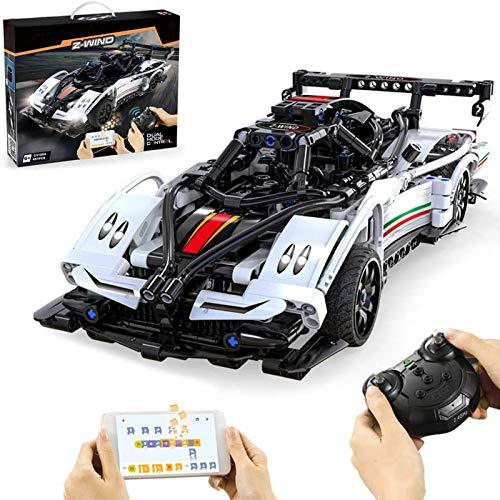 Technic Racing Car Set De Construcción para Pagani Zonda, 2.4G RC Technic Race Car Set De Construcción, 457 Piezas Bloques Compatibles con Lego, El Modelo De Construcción No Es Creado por Lego