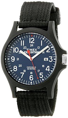 Timex Men's TW4999900 Expedition Acadia Blue/Black Nylon Strap Watch