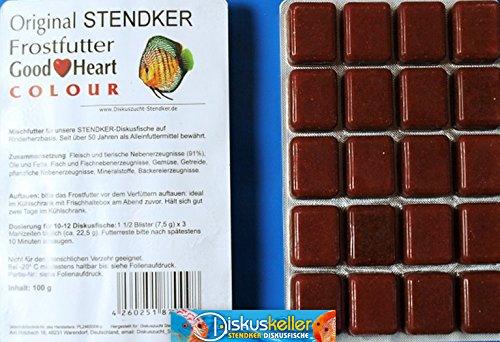 Stendker Frostfutter Sparpaket NEU!! 50 x GoodHeart Colour Diskusfutter: 100g Blister/für farbenprächtige Diskusfische.
