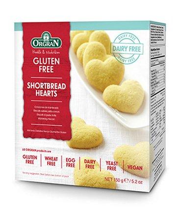 Orgran Shortbread Hearts, 150 g