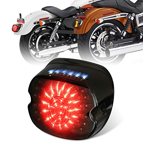 MOVOTOR - Luci posteriori a LED per Harley Sportster FLST Electra Glides Road Glides 2002-2010 Dynas luce targa