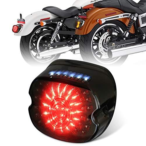 MOVOTOR Harley Luci di Coda LED Freno Luci di Segnale di Girata per Sportster FLST Electra Glides...