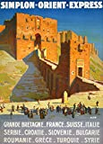 Vintage Travel Orient Express für Syrien, Türkei,