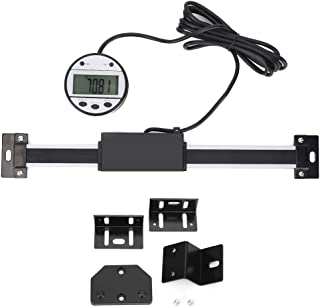 1000mm Digital Linear Scale, Aluminum Alloy Displacement Sensor Measuring Tool with Round Magnet Display Device for Scribing and Marking and Measuring Displacement(Round 1000mm)