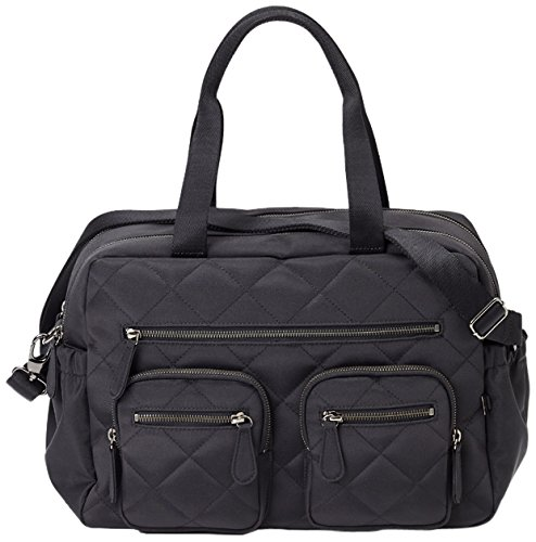 OiOi Quilted Carryall Diaper Bag, Black