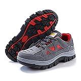 YXWa Botas para Hombres Zapatillas Antideslizantes para Hombre de Gamuza y Cintura Baja Zapatos Planos súper Ligeros, Antideslizantes, Zapatillas Deportivas para Correr (Tamaño : 42)