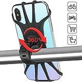 Porta Cellulare Bici Supporto Smartphone - per Bici Manubrio Universale MTB Moto per Tutti Gli Smartphone e Dispositivi Elettronici 4.5-6.0 pollici e Cinturino Silicone Estensibile Bicicletta Ciclismo
