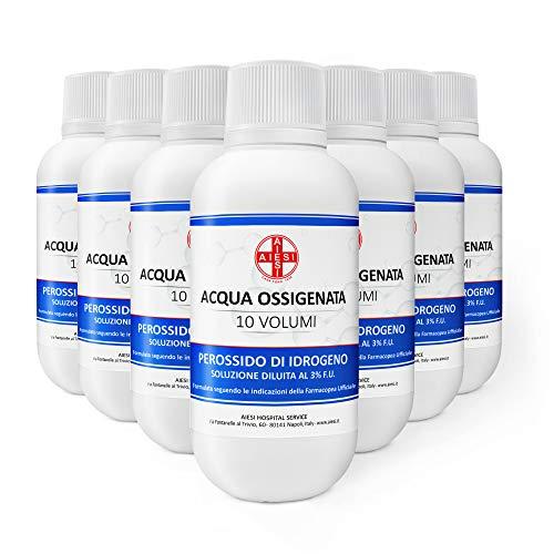 AIESI® Wasserstoffperoxid desinfektionsmittel Ph.Eur. lösung 3% 10 volumen mit kindersicherheitskappe flasche 250 ml (Packung mit 12 stück)