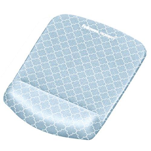 Fellowes PlushTouch Mauspad / Handgelenkauflage mit FoamFusion-Technologie, graues Gitter (9549701)