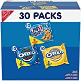 One Nabisco Sweet Treats Cookie Variety Pack with 30 two-cookie snack packs, including 10 each of OREO Original, OREO Golden and CHIPS AHOY! Full-size cookies in convenient snack packs Brighten your day with these delicious lunch snacks Indulge yours...
