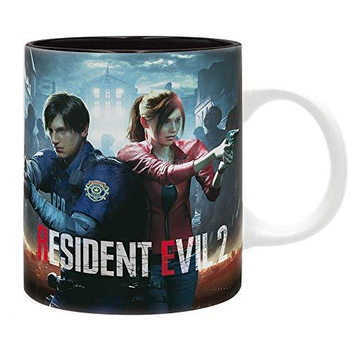 Resident Evil RE 2 Remastered Logo - Taza de café (en caja de regalo), diseño de zombi