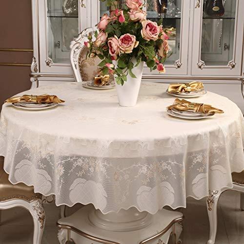 YONGJUN tafelkleed Casa Modern, rond tafelkleed van kant, waterdicht, olieafstotend, 3 kleuren