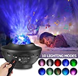 Star Projector Night Light Projector with Ocean Wave Projector Bluetooth Speaker for Baby Kids Bedroom,Game Room,Night Ambiance,Party