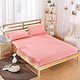 L-DDYX - Juego de colchón de cama de poliéster sólido con cuatro esquinas y hojas de banda elástica, Yuse, 200X200X25cm