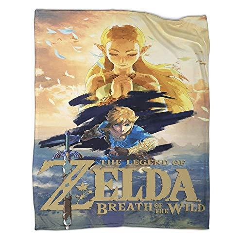 Xaviera Doherty Hyrule Warrior Zelda Age of Disaster Hot Blood Game - Manta de viaje ligera, 80 x 100 cm, para otoño e invierno, ropa de cama infantil