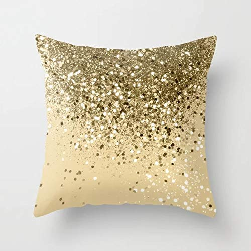 GYYbling Pillow case Multi Glitter Throw Pillow case Shiny Agate Cushion Cover for Home Sofa Decoration Pillow case Cushion Cover A5 45x45cm 1pc
