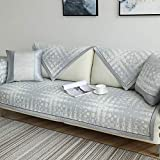 YUTJK Chaiselongue-Sofa Bezug,Sommersofabedeckung Sitzkissen,Ice Silk Cooles atmungsaktives Sofatuch,einfache Moderne Schlafsofamatte 2020 New-Grey-1_60×120cm