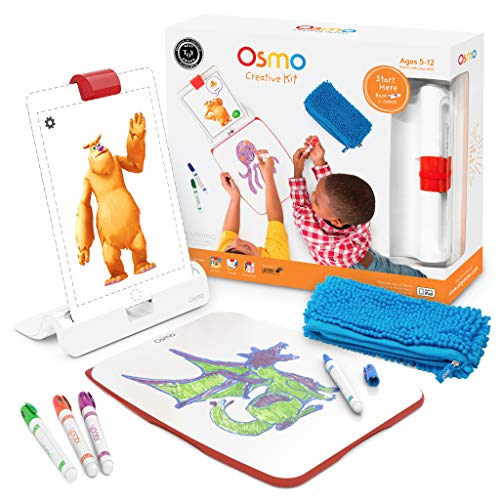 Osmo - Creative Kit for iPad - 3 Hands-On Learning Games - Ages 5-10 - Creative Drawing & Problem Solving/Early Physics - STEM - (Osmo iPad Base Included) ,901-00004
