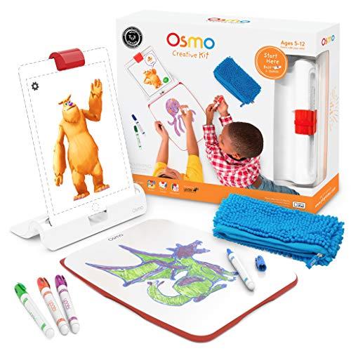 Osmo - Creative Kit für iPad - 3 praxisorientierte Lernspiele - Alter 5-10 - Kreatives Zeichnen und Problemlösung/Frühe Physik - MINT - (Osmo-Basis für iPad inbegriffen)