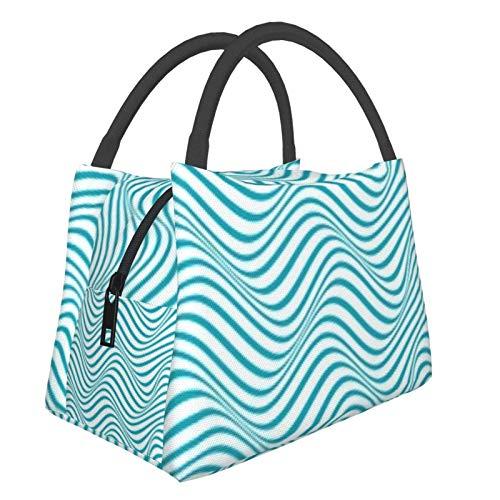 Bolsa de almuerzo portátil con aislamiento Cool (Patrón de línea ondulada colorida abstracta (2)) 8.5L