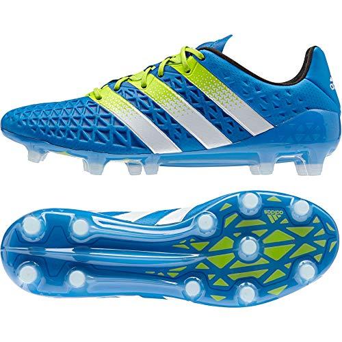 adidas Herren ACE 16.1 FG/AG Fußballschuhe, Blau (Shock Blue/Semi Solar Slime/FTWR White), 40 2/3 EU