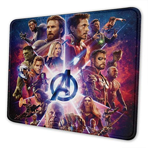 The Avengers Super Hero Gaming Mouse Pad Large 11.81 X 9.84 X 0.12 Inches Stitched Edges Waterproof Pixel-Perfect Accuracy Optimized for All Computer Mouse Sensitivity and Sensors