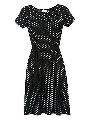 Pussy Deluxe Basic Dotties Dress Kleid schwarz, Größe:S