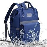 Baby Wickeltasche Rucksack - Licht Wickelrucksack Lässig Wasserdicht Wickeltasche Multifunktional Große Kapazität Wickeltasche Rucksack Babytasche mit Mann und Frau | Blau