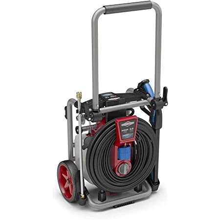 Briggs & Stratton S2000P 2000 MAX PSI at 1.1 GPM Electric Pressure Washer with Power flow+ Technology, Detergent Tank, 25-Foot High-Pressure Hose, and 7-in-1 Nozzle