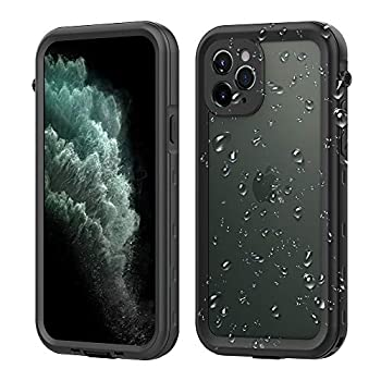 DOOGE iPhone 11 Pro Max Waterproof Case IP69K Underwater Full-Body Protective Shockproof Dropproof Scratchproof Clear Case with Built-in Screen Protector for Apple iPhone 11 Pro Max 6.5Inch