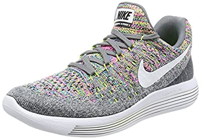 Nike Womens Lunarepic Low Top Lace Up Running, Black/White/Anthracite, Size 5.0