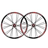 MZPWJD MTB 26' Bike Wheel Set Bicycle Wheel Double Wall Alloy Rim Tires 1.5-2.1' Disc Brake 7-11 Speed Palin Bearing Hub Quick Release 24H 6 Colors (Color : B)