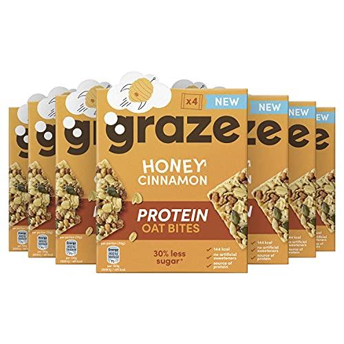 Graze Honey Cinnamon Protein Oat Bites Havermoutrepen – 7 x 4 Repen (120 g)