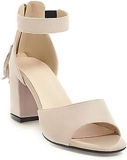 BalaMasa Womens ASL06543 Pu Block Heels