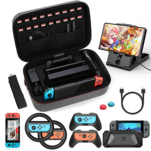HEYSTOP Kit de Accesorios 12 en 1 para Nintendo Switch, con Funda...