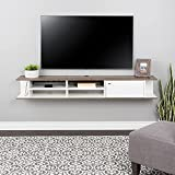 Prepac Wall Mounted Media Console with Door, 70', White